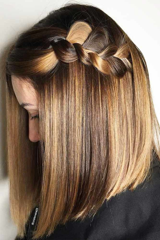 Big Braids For Medium Length Hair Balayage #mediumhair #mediumhairstyles