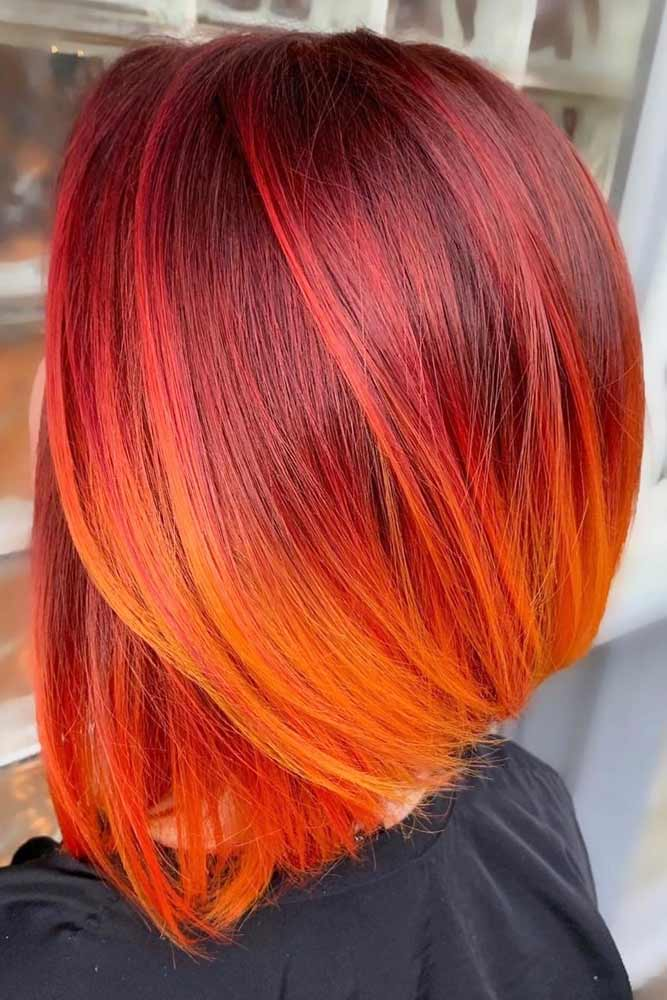 Autumn Inspired Hair #mediumhair #lobhaircut