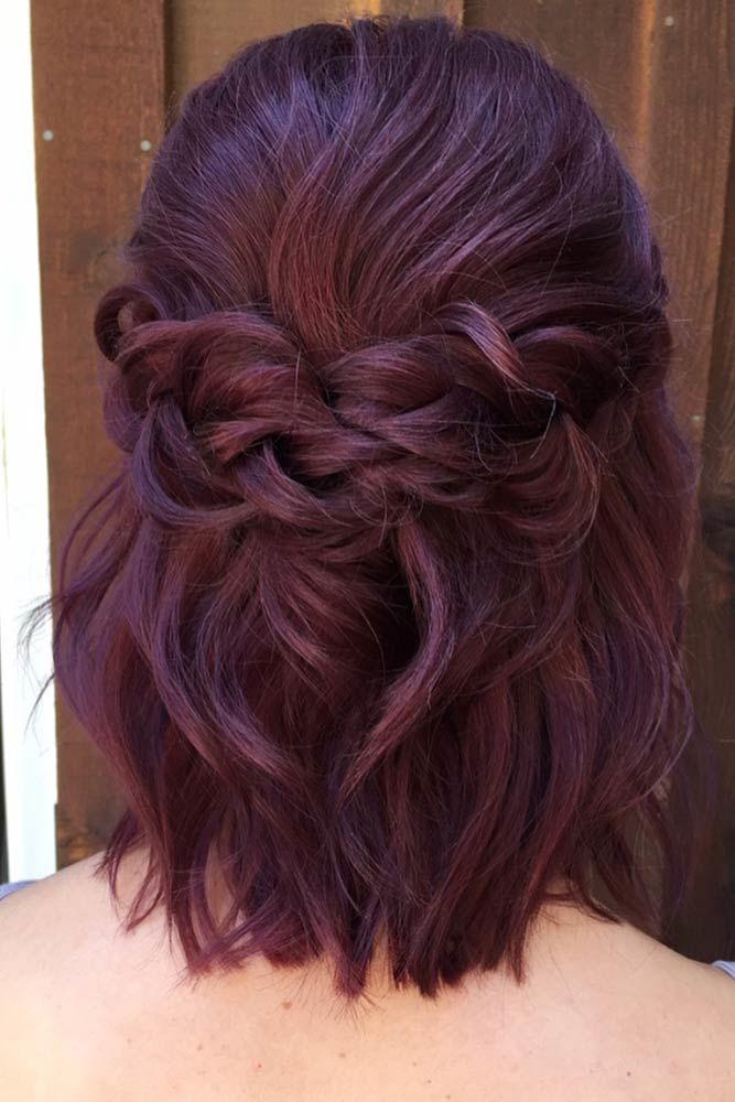 Braided Half-Up Hairstyles For A Cute Look Dark #mediumhair #mediumhairstyles