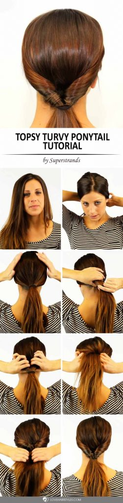 How to Do a Topsy Turvy Ponytail