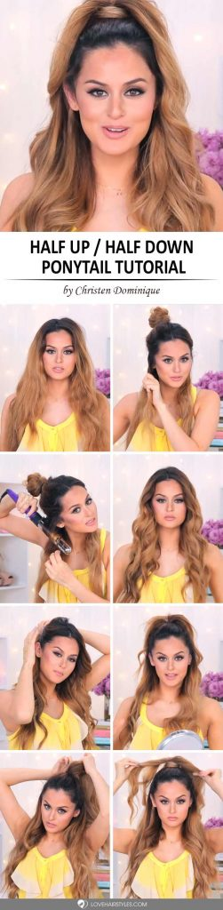How to Do a Half Up Half Down Ponytail