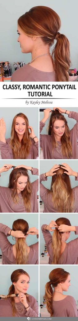 How to Do a Classy Romantic Ponytail
