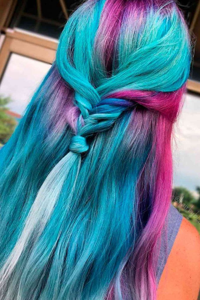 Unusual Blue Ombre Hairstyles