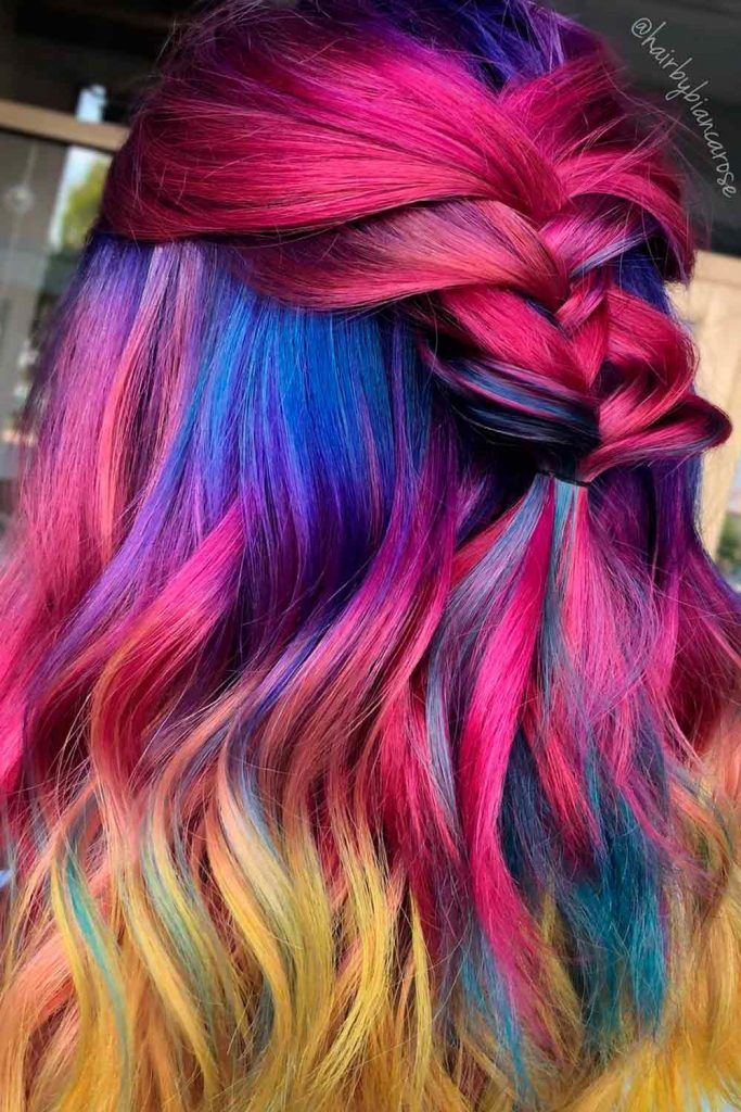 Bright Ombre on Long Hair