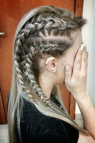 Vikings Lagertha Hair Tutorial Lovehairstyles Com