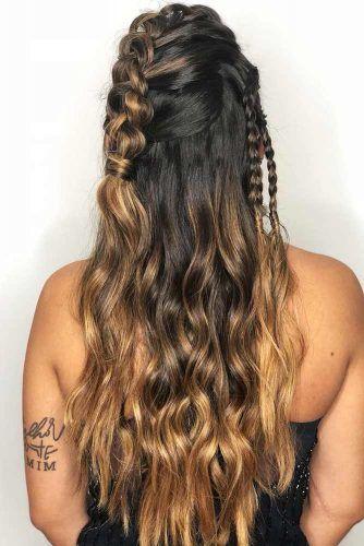 Mohawk Braids Lagertha Half-Up Hairstyles #braids #halfup