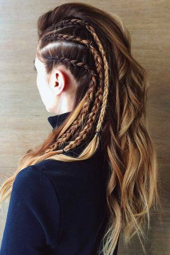 Side Dutch Braids Lagertha Style #braids