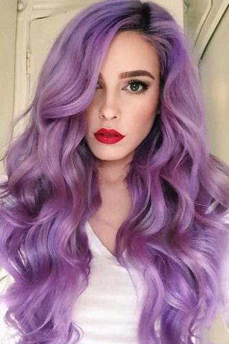 Violet Ombre Hair Color picture1