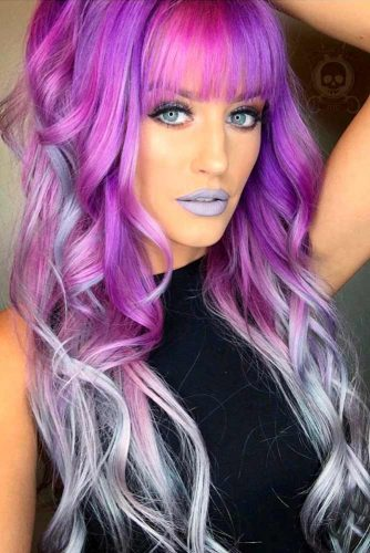 Violet Ombre in a Mix with Other Colors picture2