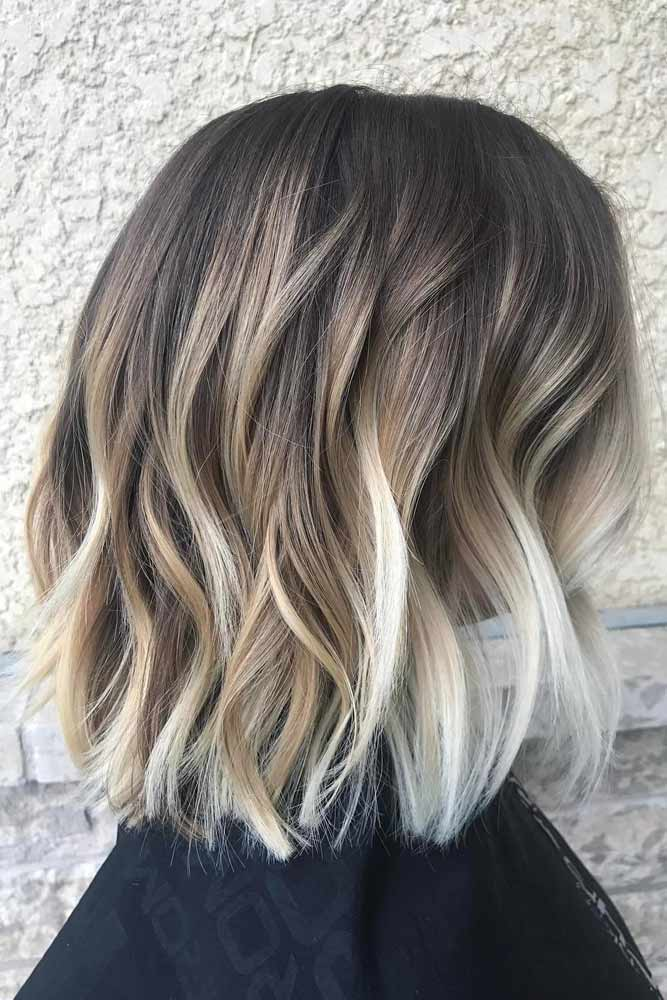 Caramel and Vanilla Balayage for Chopped Haircut