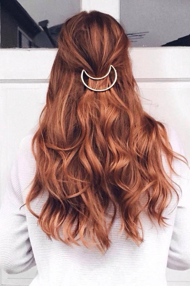 Long Hairstyles with Hair Barrettes picture2