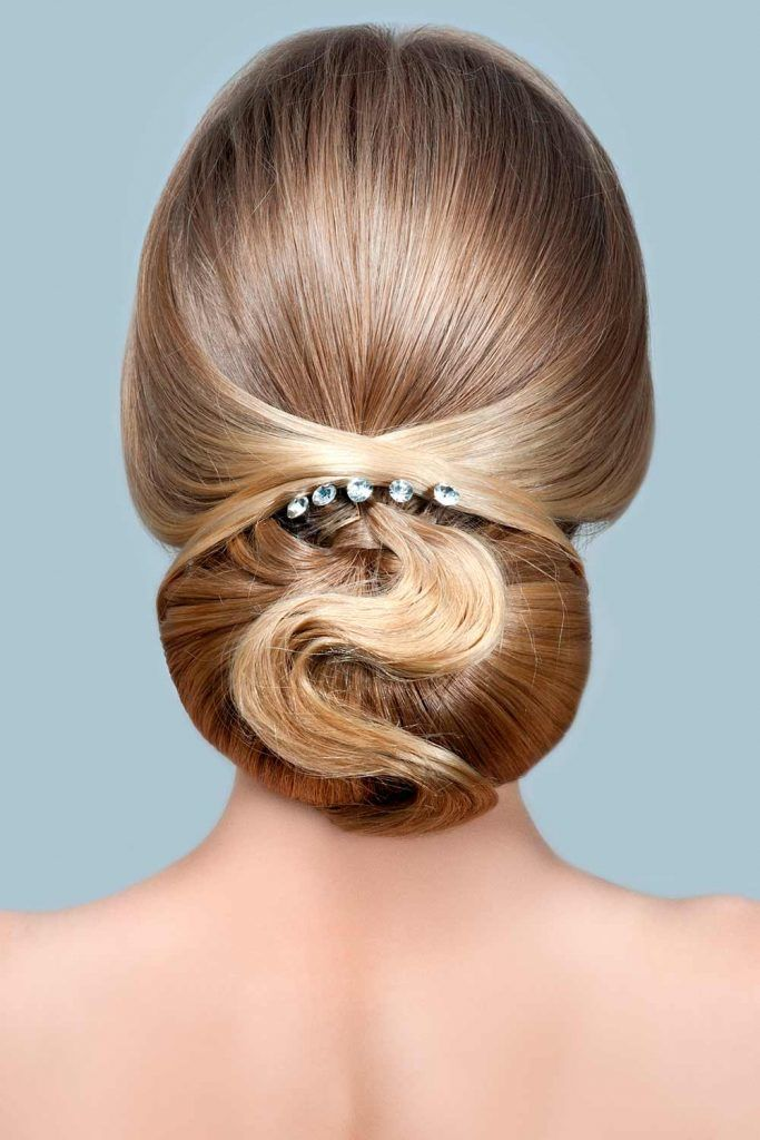 Cute Updo Hairstyles With Hair Barrettes