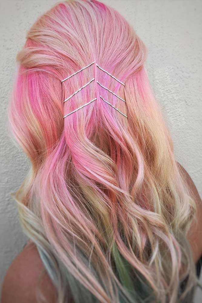 Colorful Hairstyles with Pins picture2