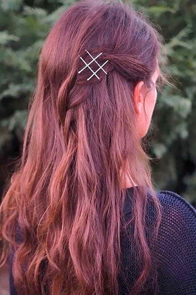 Easy But Cute Hairstyle With Bobby Pins