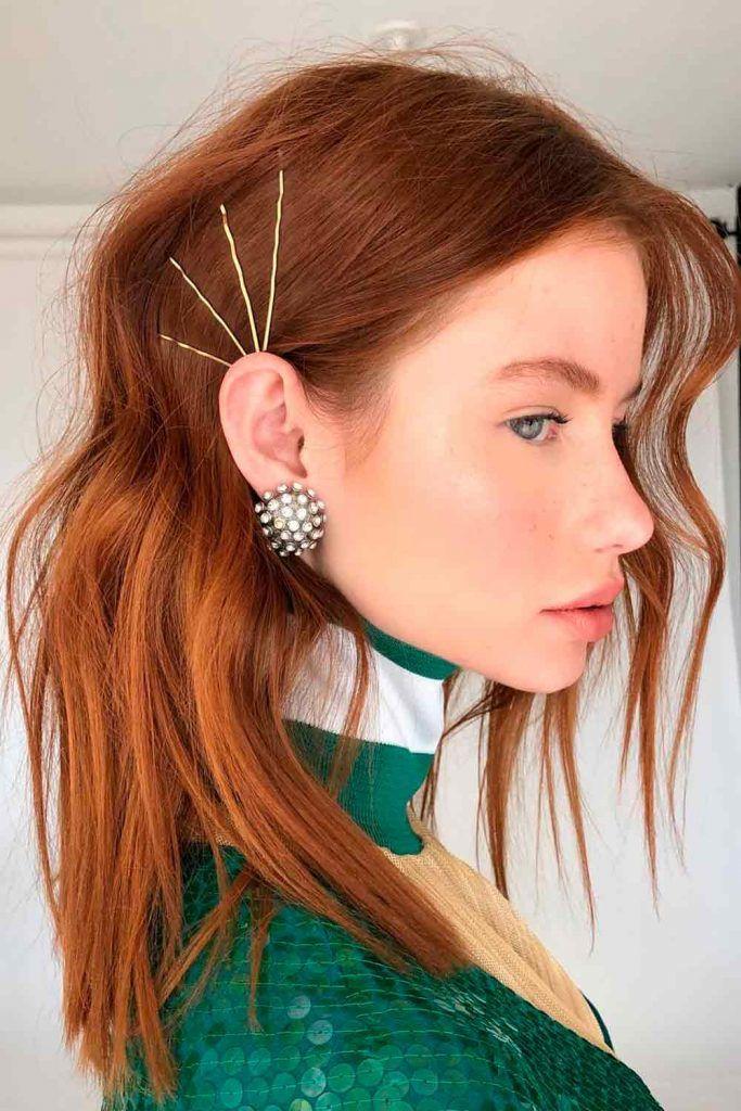Bobby Pin For Long Red Hair