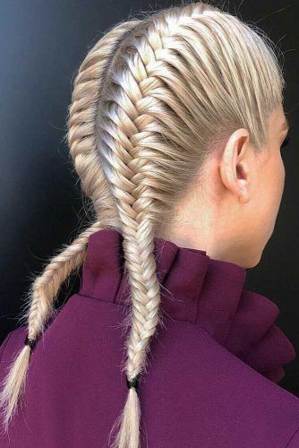 Double Fishtail Braids #braids
