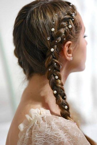Double Braids Ideas Brown #winterhairstyles