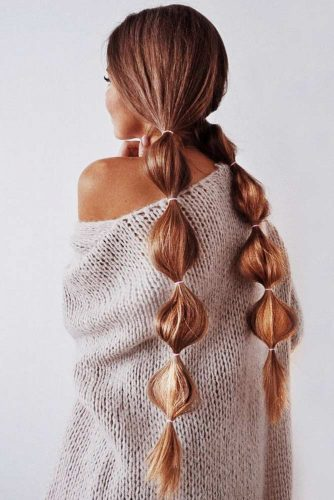 Double Braids Ideas Bubble #braids #longhair