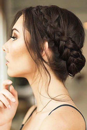 Dutch Braids For Winter Weather Updo #updo #braids