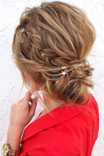 Updo Winter Hairstyles Braid #updo #bun #braids