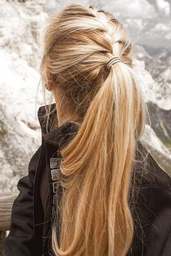 Braided Ponytails French #braids #ponytail
