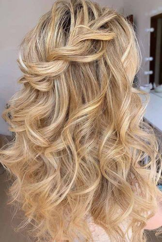 Half Up Half Down Winter Hair Styles Twist #winterhairstyles
