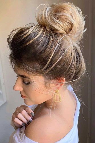 Updo Winter Hairstyles Ombre #winterhairstyles