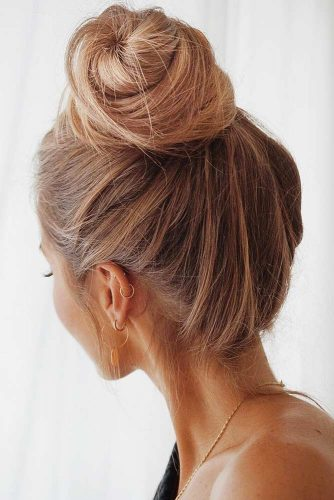 High Bun Hairstyles Ideas #bun #updo