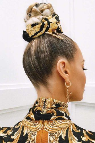 High Bun Hairstyles #winterhairstyles