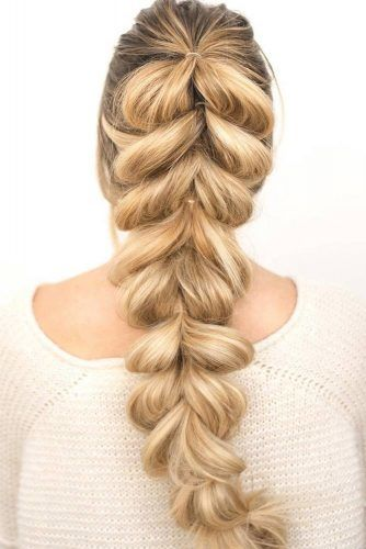 Pull Through Braid Blonde #braids
