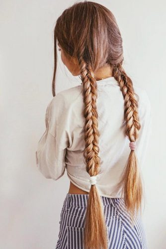 Double Braids Ideas Dutch #braids