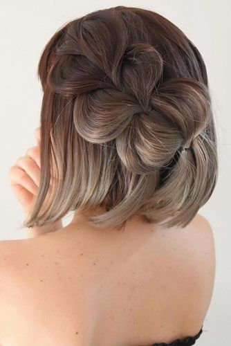 Pull Through Braid Bob #winterhairstyles