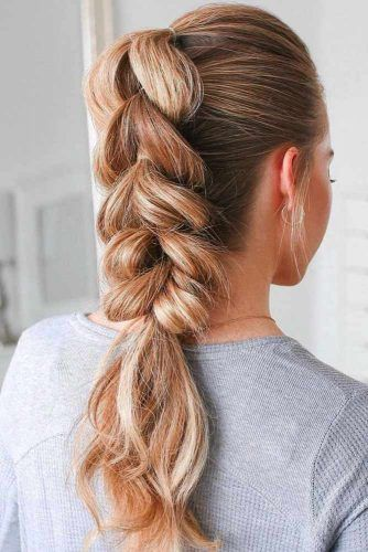 Pull Through Braid Pony #updo #braids #ponytails
