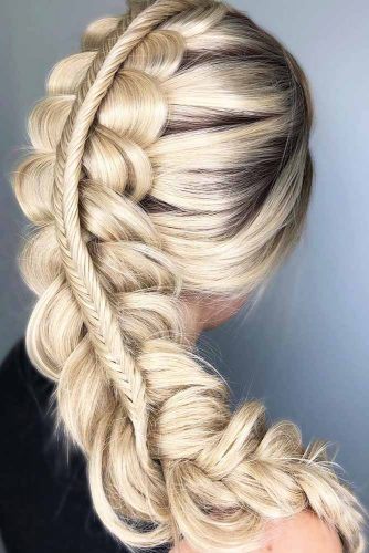 Stacked Braid Hairstyles Fishtail #braids