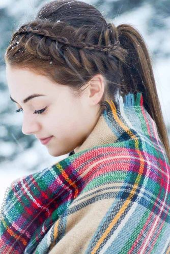 Stacked Braid Hairstyles Ponytail #braids #ponytail