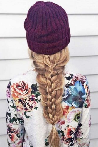 Stacked Braid Hairstyles Three Strand #braids