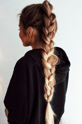 Braided Ponytails Three Strand #braids #ponytail