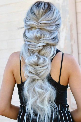 Topsy Tail Braids Blonde #winterhairstyles
