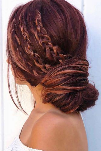 Triple Side Braids#winterhairstyles