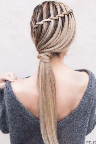 Braided Ponytails Waterfall #braids #ponytail