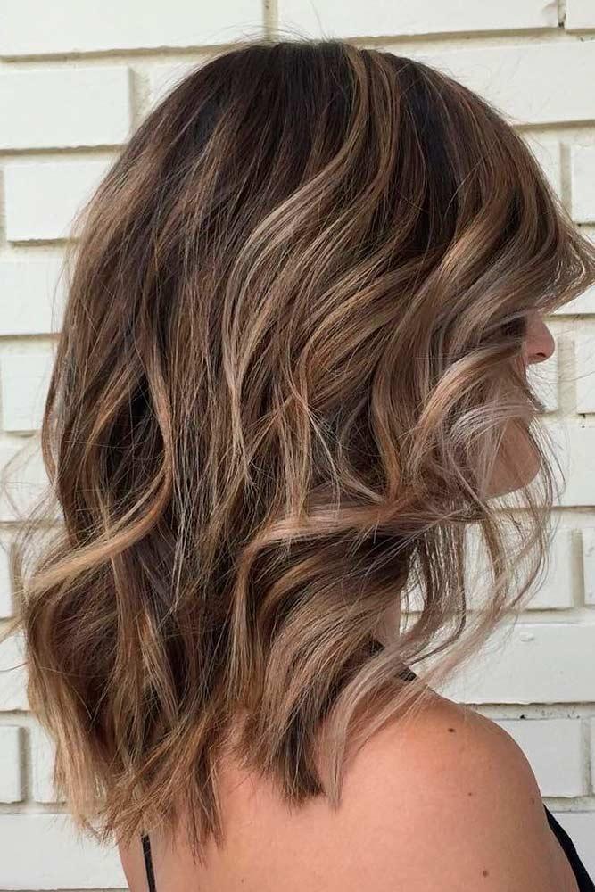 Beachy Shoulder Length Wavy Hair Styles