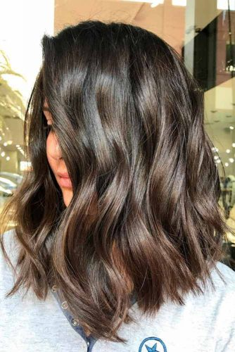 nice haircuts for curly hair 37 trendy hairstyles for medium length hair 3586 | beach wavy hairstyles for medium length hair brown ombre lob 334x500