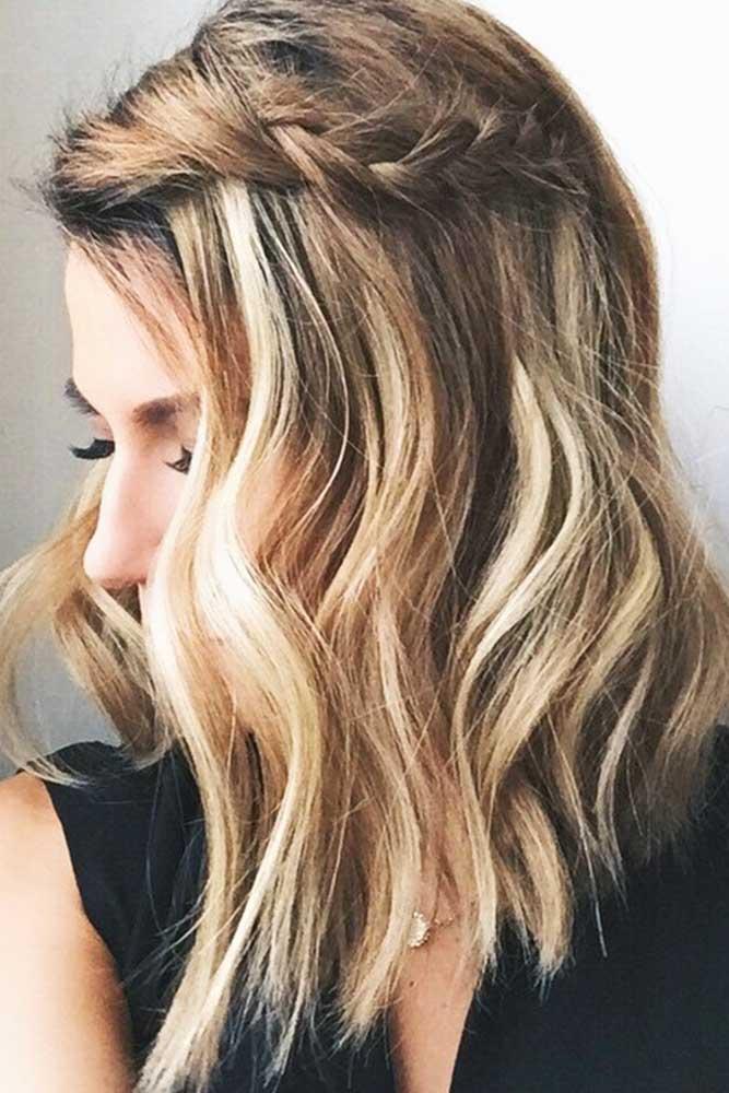 Braided Style Shoulder Length Wavy Hair #wavyhair #braids