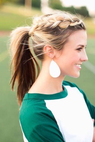 Side Dutch Blonde Braid #ponytail #updo #braids