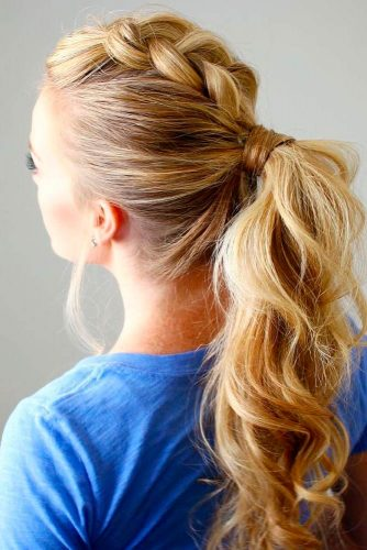 Dutch Mohawk Braided Ponytail