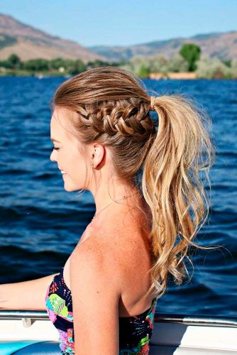 Side Dutch Messy Braid #ponytail #updo #braids