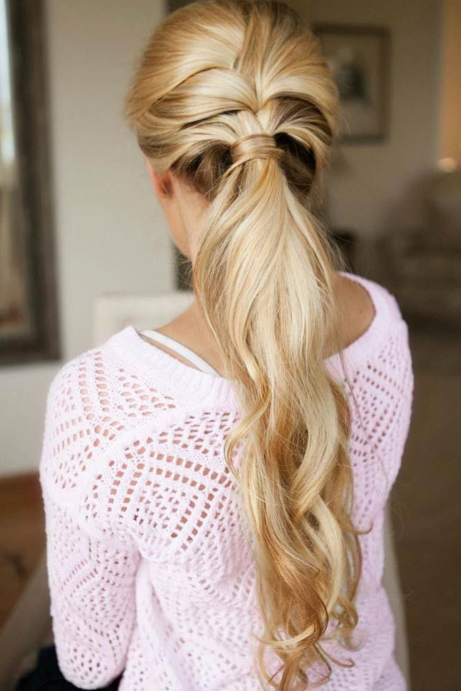 French Braid Into Pony #ponytails #updo