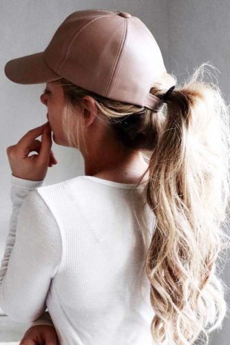 High Ponytails Messy #ponytail #updo