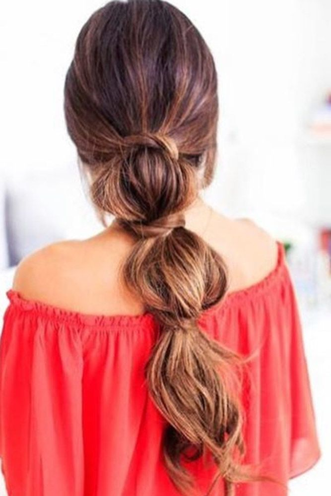 Bubble Ponytail #ponytails #updo