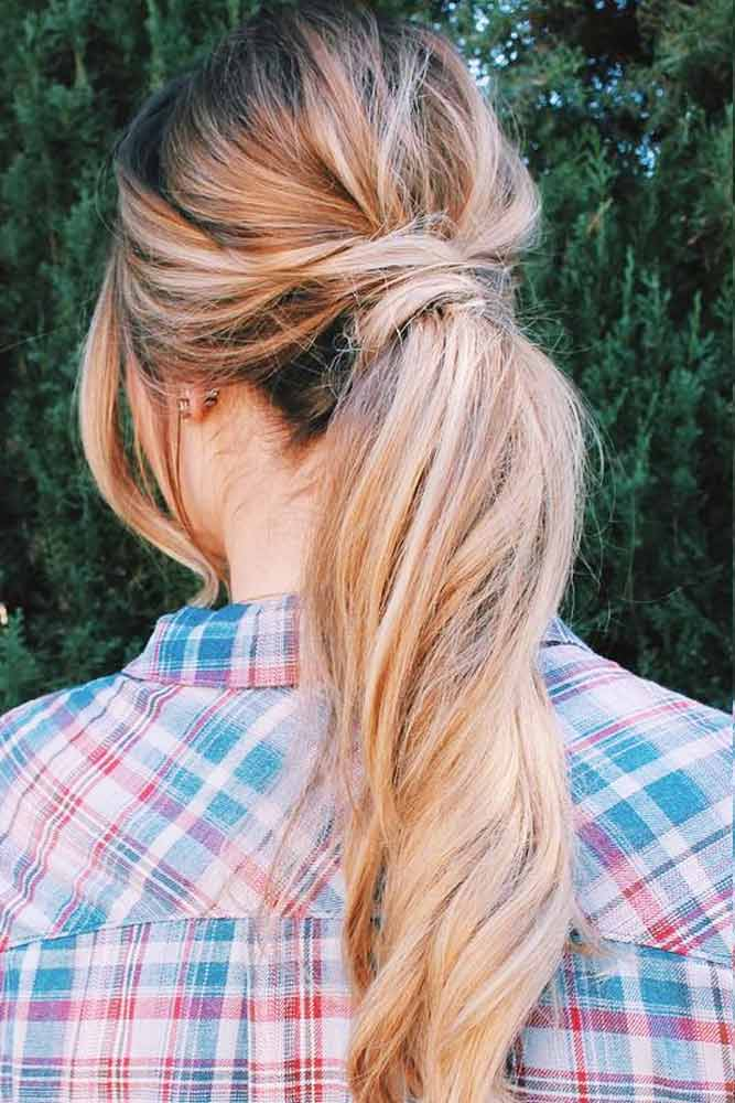 Low Twisted Pony #ponytails #updo